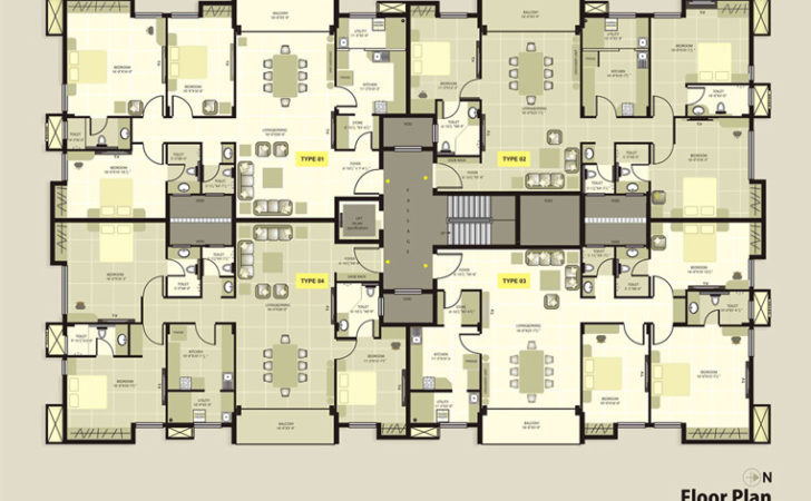 Krc Dakshin Chitra Luxury Apartments Floorplan