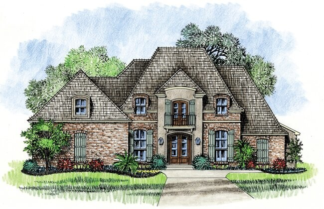 Lafayette Country French House Plan Designs Louisiana