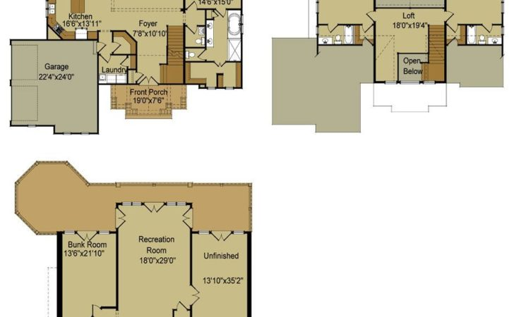 Lake House Floor Plans Walkout Basement