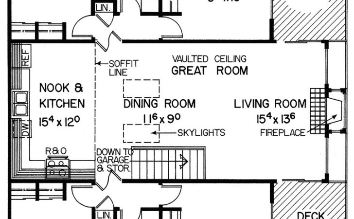 Lake Valley Vacation Home Plan House Plans