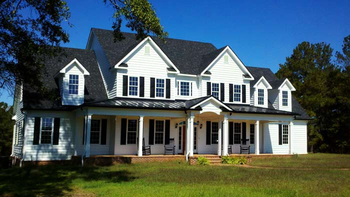 Large Country Home Floor Plan High Farmhouse