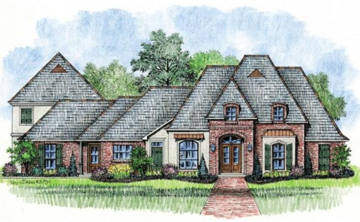 Large French Country House Plan Bonus Room
