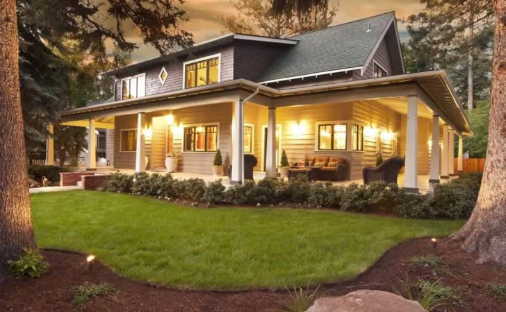 Large Front Porch House Plans