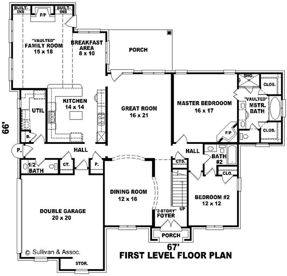 Large House Plan Floor Plans