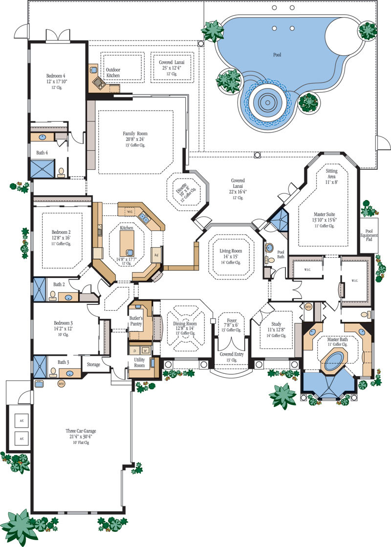 Large Luxury Home Floor Plans Homes