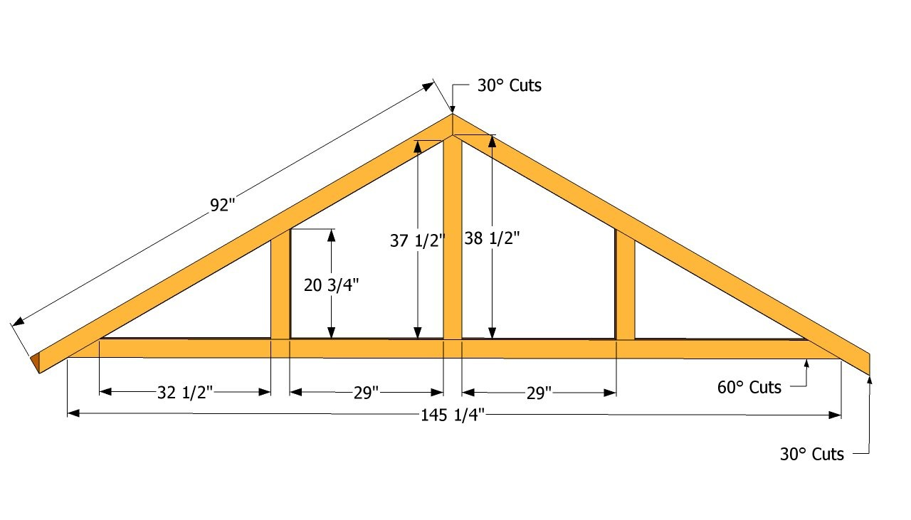 Large Shed Roof Plans Outdoor Diy