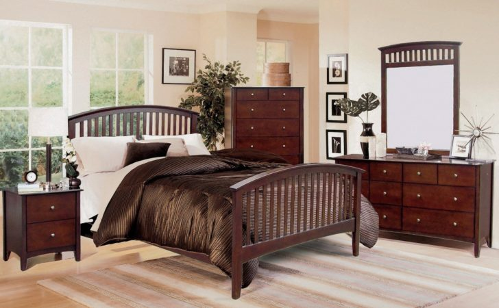 Lawson Mission Style Cappuccino Finish Bedroom Set