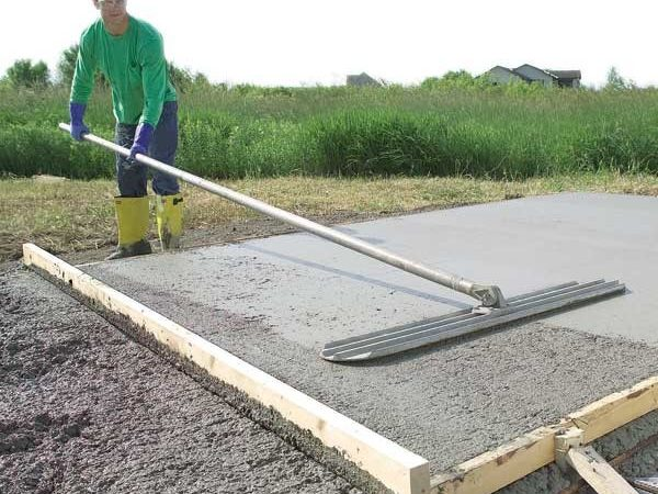Lay Concrete Slab Build House