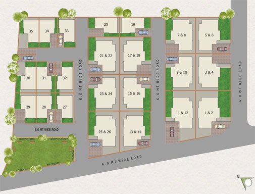 Layout Plan Luxurious Homes Bungalows Bakrol