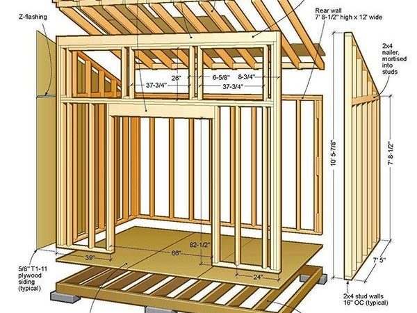 Lean Shed Plans Blueprints Lovely Garden