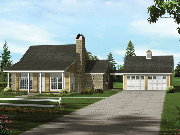 Lemoncove Acadian Ranch Home Plan House Plans