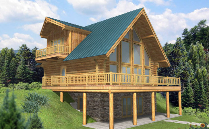 Leola Raised Frame Log Home Plan House Plans