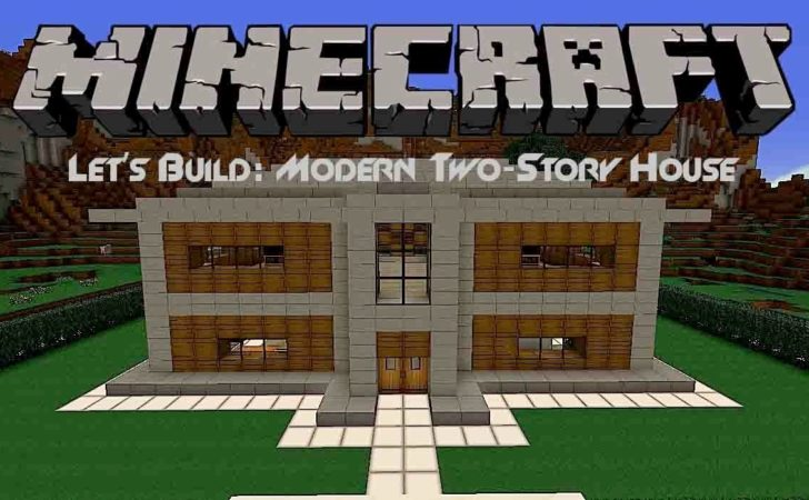 Let Build Modern Two Story House Minecraft Youtube