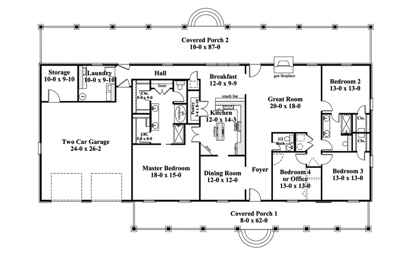 Linwood One Story Home Plan House Plans More