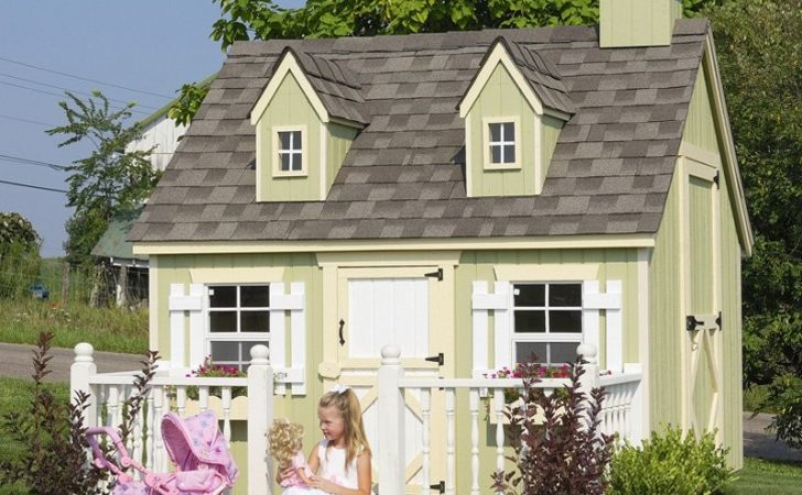 Little Cottage Cape Cod Wood Playhouse Outdoor