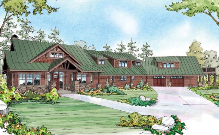Lodge Style House Plans Barnhart Associated Designs
