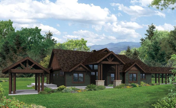 Lodge Style House Plans Cedar Height Associated