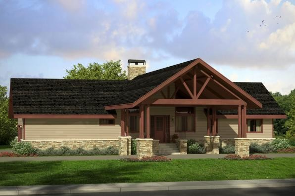 Lodge Style House Plans Spindrift Associated