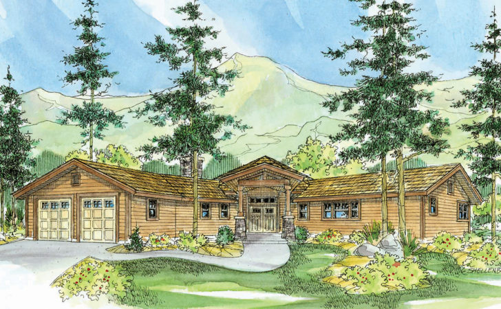 Lodge Style House Plans Viewcrest Associated