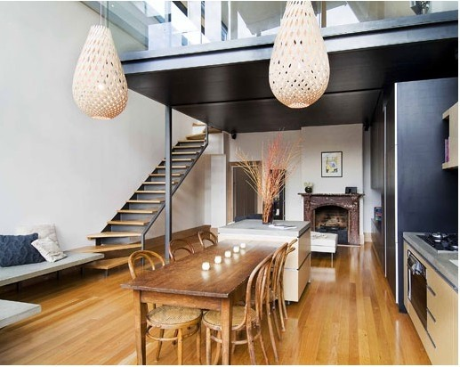 Loft Style Home Fancy Dining Space