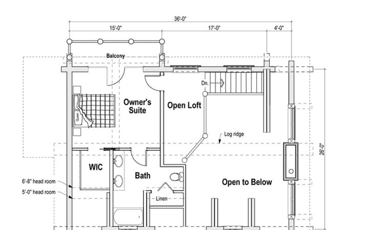 Log Cabin House Plans Loft Woodplans