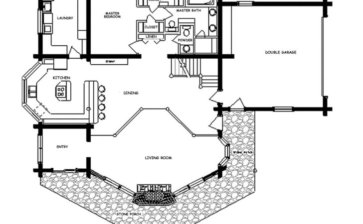 Log Home Floor Plan Ponderosa