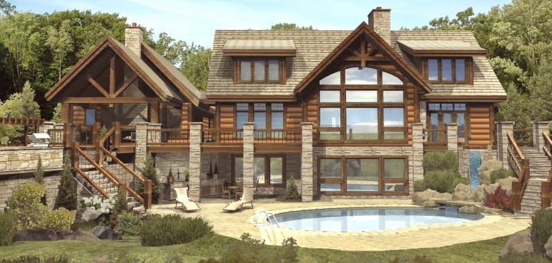 Log Home Floor Plans Basement Cottage House