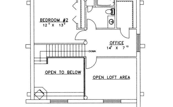 Lone Eagle Vacation Log Home Plan House Plans