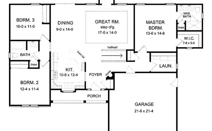 Lovely Bedroom House Plans Basement Ranch