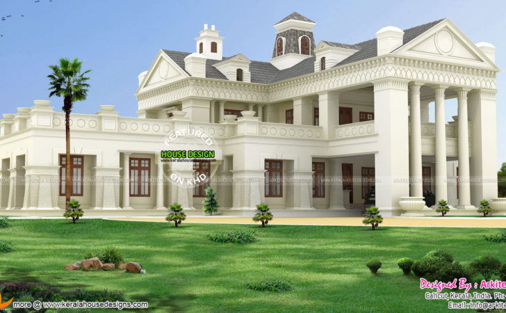 Luxury Colonial Style House Architecture Kerala Home