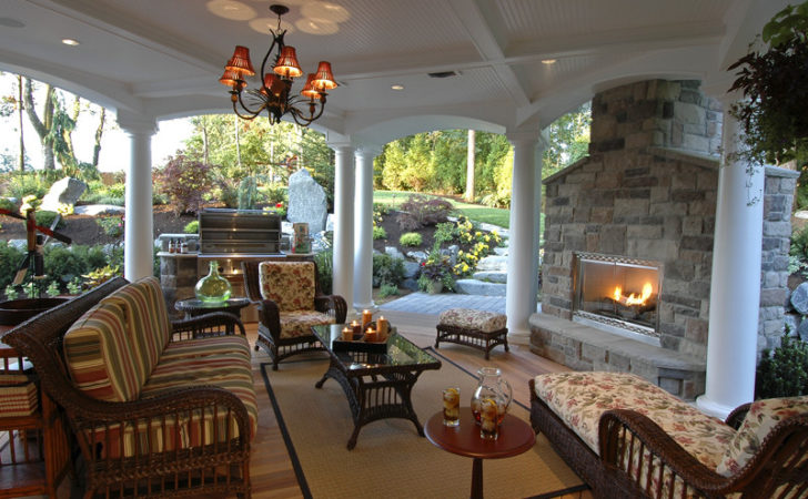 Luxury House Plan Outdoor Living