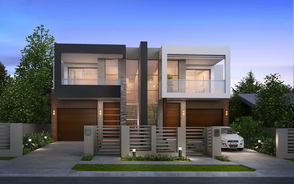 Luxury Modern Duplex Home Plans House Plan