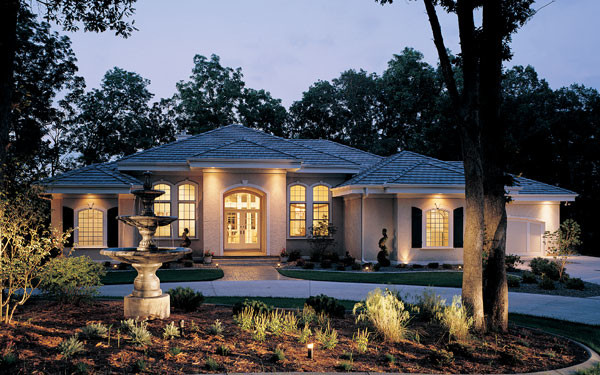 Luxury One Story House Plans Design