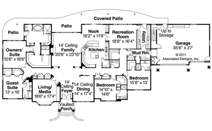 Luxury Ranch House Plans Home