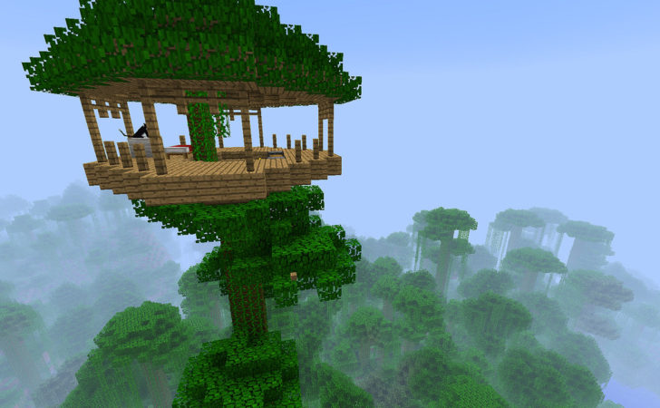 Made Minecraft Treehouse Planted One Sequoia