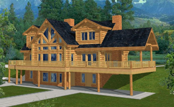 Majestic Style Log Home Design Coast