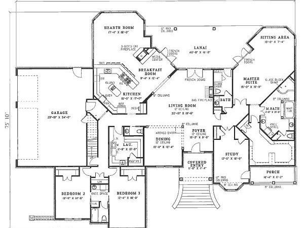 Mansion House Plans Bedrooms Cottage