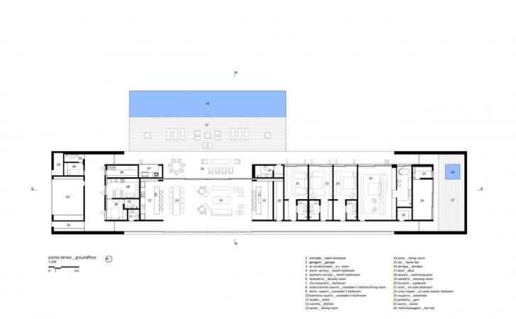 Marcio Kogan Casa Lee Concrete House Plans Interior