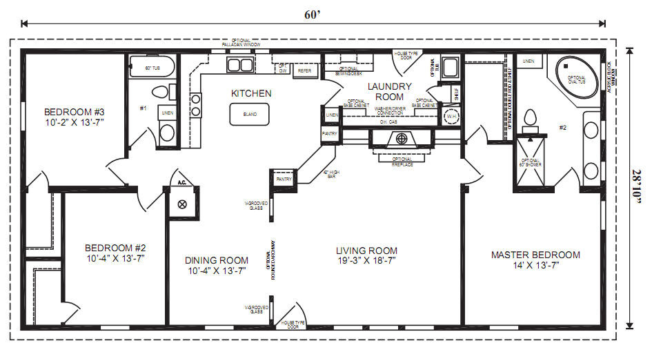 Margate Modular Home Floor Plan Jacobsen Homes