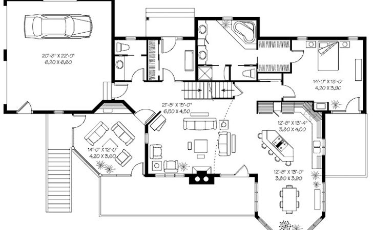 Marvelous Multi Level Hwbdo Country House Plan