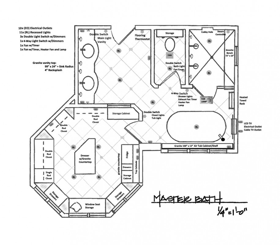 Master Bedroom Bathroom Floor Plans All