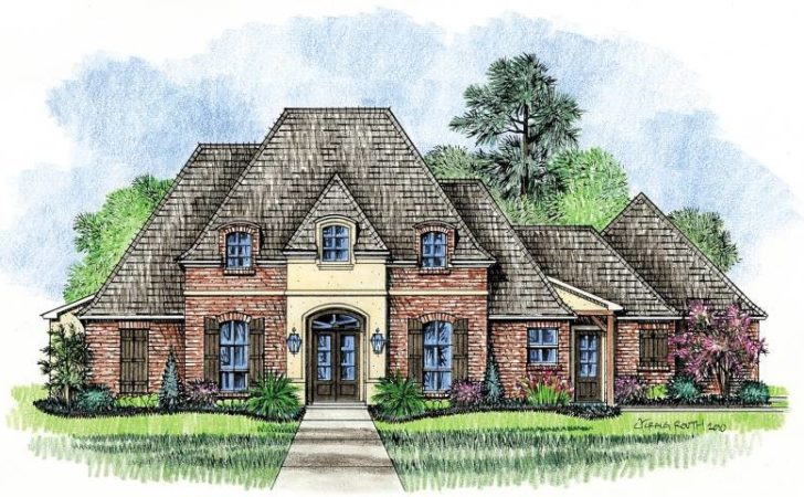 Meadowbrook Country French Home Plans Louisiana House