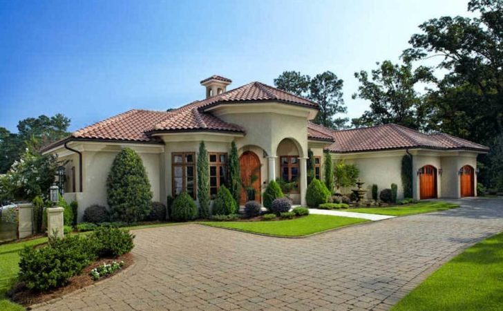 Mediterranean Home Plans Courtyards Ideas