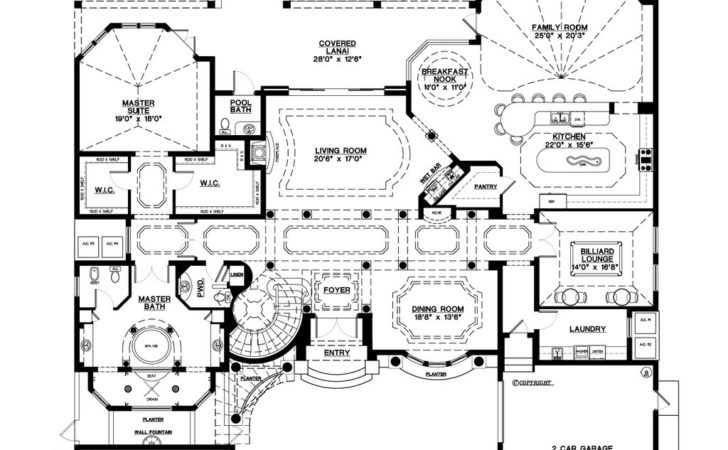 Mediterranean Style House Plan Beds Baths