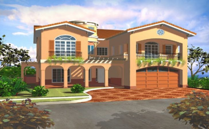 Mediterranean Style House Plans Villa Floor