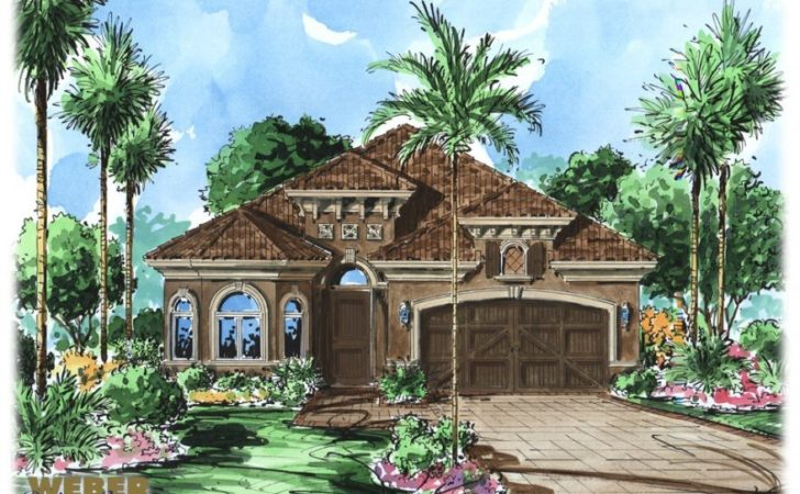 Mediterranean Villa House Plan Luxury Tuscan Style Floor