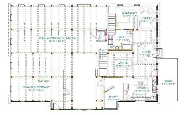 Metal Barn Living Quarters Floor Plans Mikes