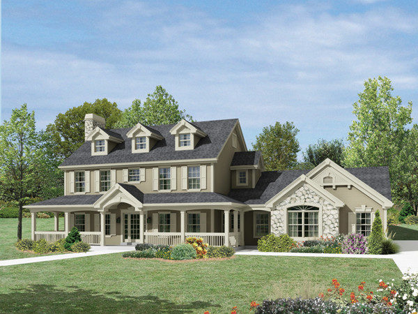 Milburn Manor Country Home Plan House Plans