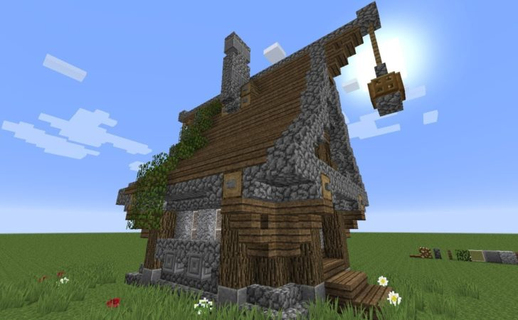 Minecraft Build Very Simple Medieval House Youtube
