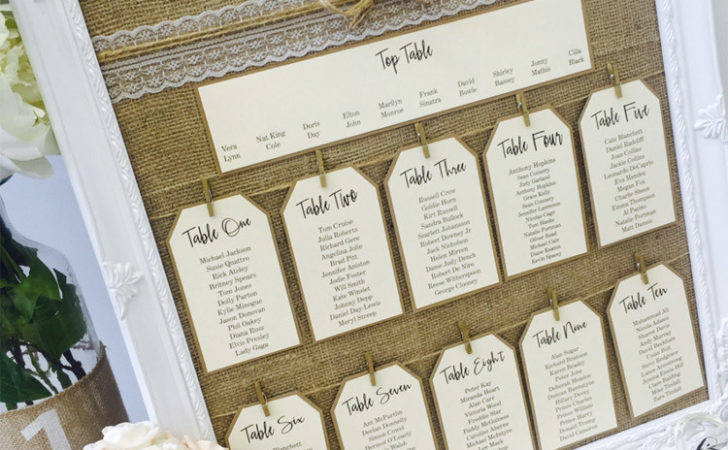 Mirror Frame Wedding Seating Plans